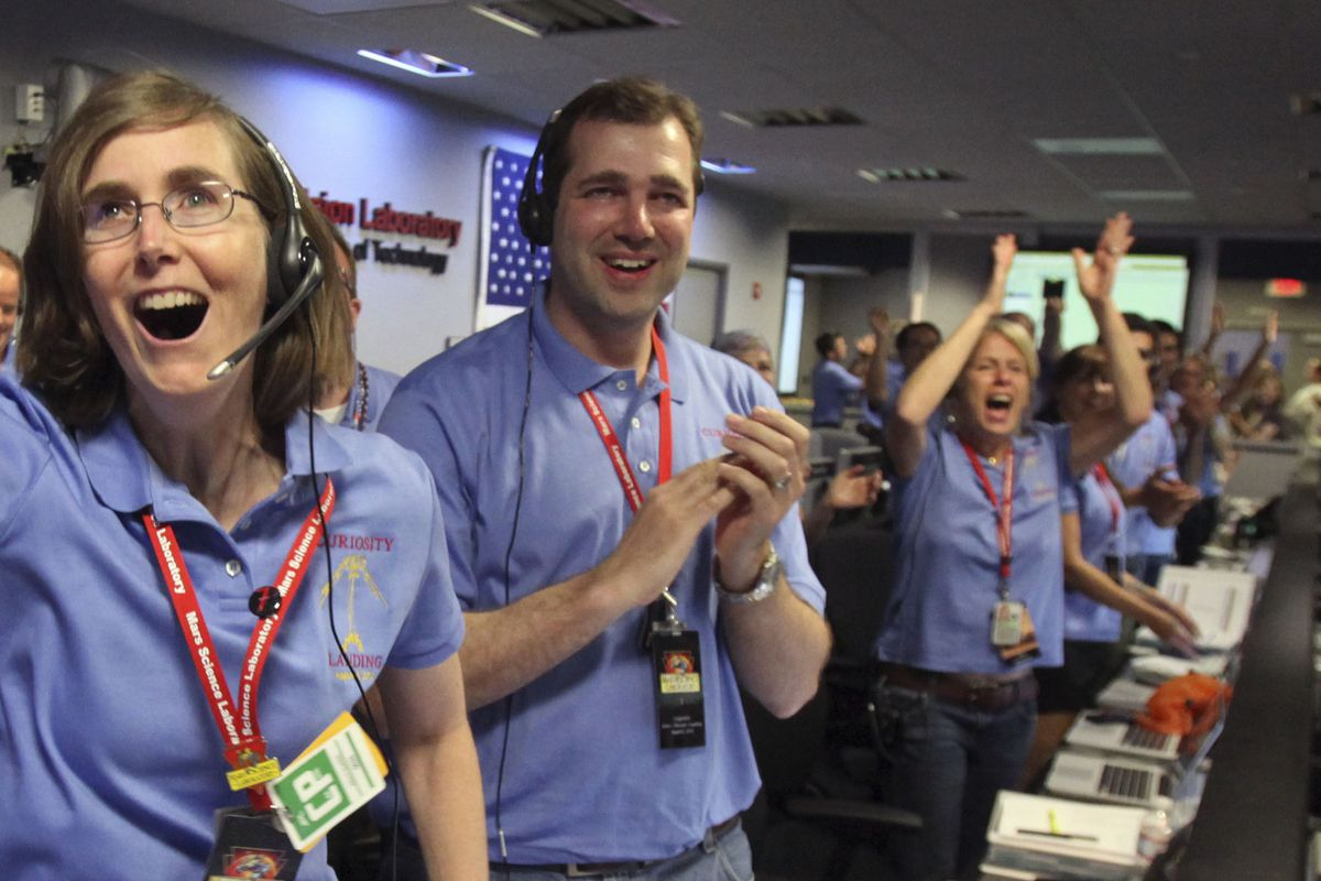 Cheering on a different kind of victory- NASA staffers