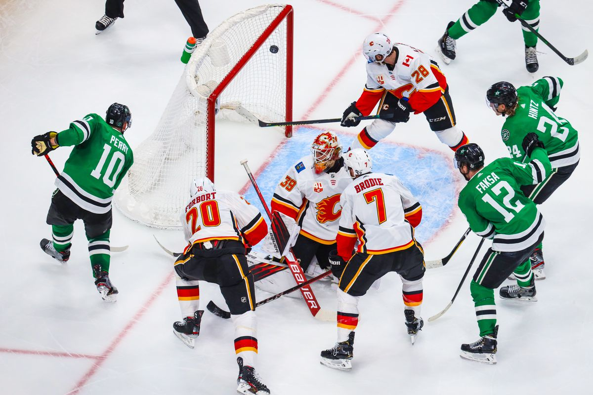 NHL: Stanley Cup Playoffs-Calgary Flames at Dallas Stars