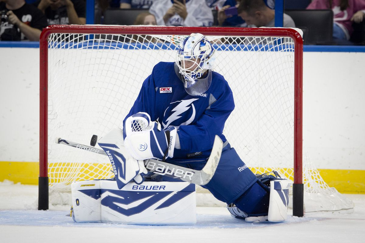 Goaltender Anders Lindback is a raw talent that will have to adjust to several factors in his role in Tampa Bay.