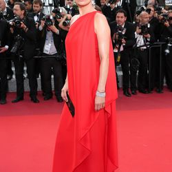 Kate Moss in Halston at the premiere of 'Loving.'