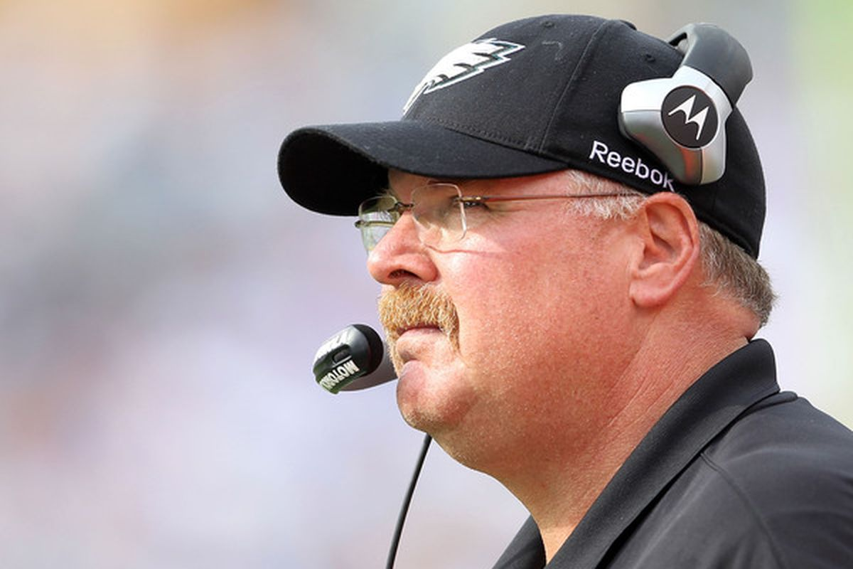 NASHVILLE TN - OCTOBER 24:  Andy Reid the Head Coach of the Philadelphia Eagles is pictured during the NFL game against the Tennessee Titans at LP Field on October 24 2010 in Nashville Tennessee.  (Photo by Andy Lyons/Getty Images)