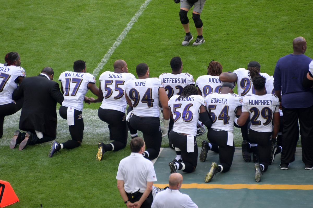 e2b7ba4f Dozens of NFL players join anthem protest in wake of Donald Trump ...