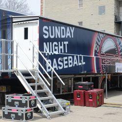 ESPN broadcast truck in the broadcast center lot -