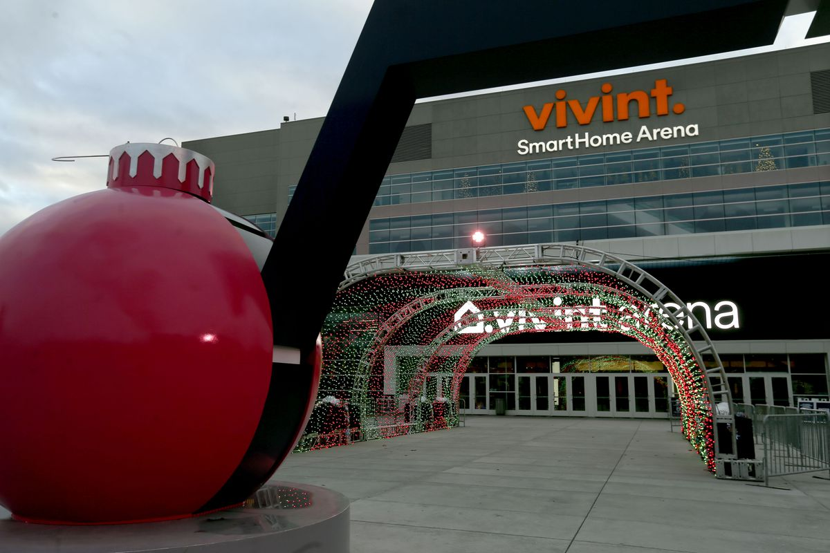 The Vivint Smart Home Arena in Salt Lake City is pictured on Friday, Dec. 18, 2020. A unanimous vote by the NBA board of governors approved the Miller family's sale of the nearly 50-year-old franchise to tech entrepreneur Ryan Smith and his wife, Ashley.
