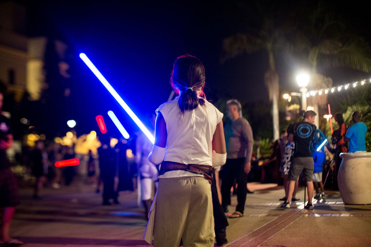 Underground Lightsaber Fighters battle during Comic-Con 2016