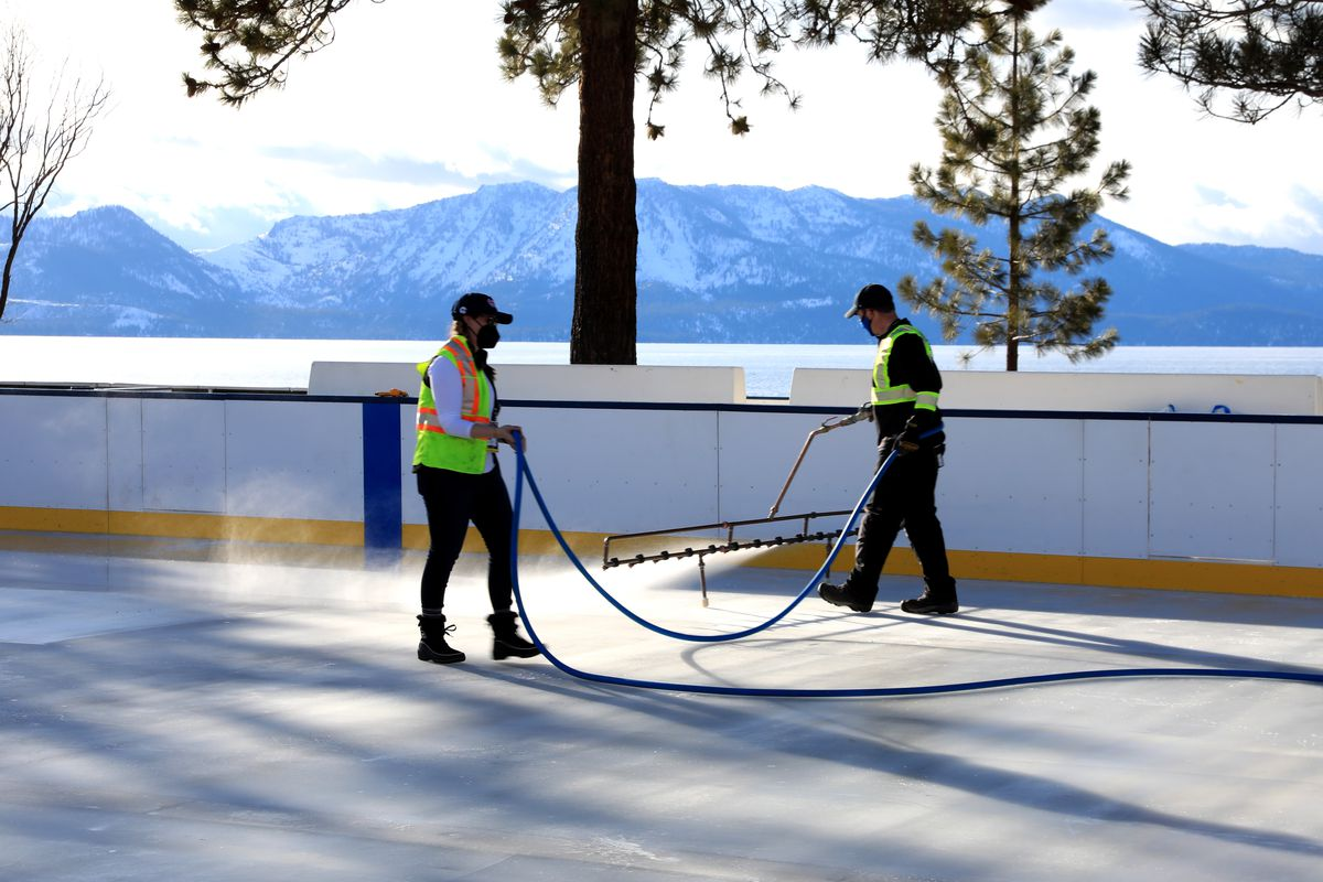 NHL Outdoors At Lake Tahoe - Rink Build Out