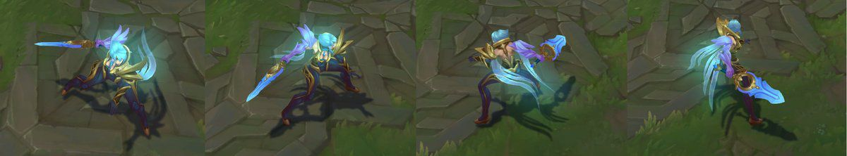 Riven Is Here To Be The Opposing Force Trying Stop Nightbringer Yasuo And She Looks Great In Gold Blue