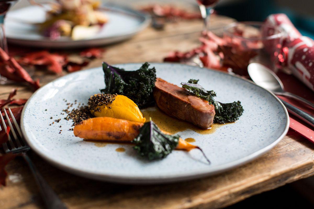 Roast duck at London tasting menu restaurant Salon