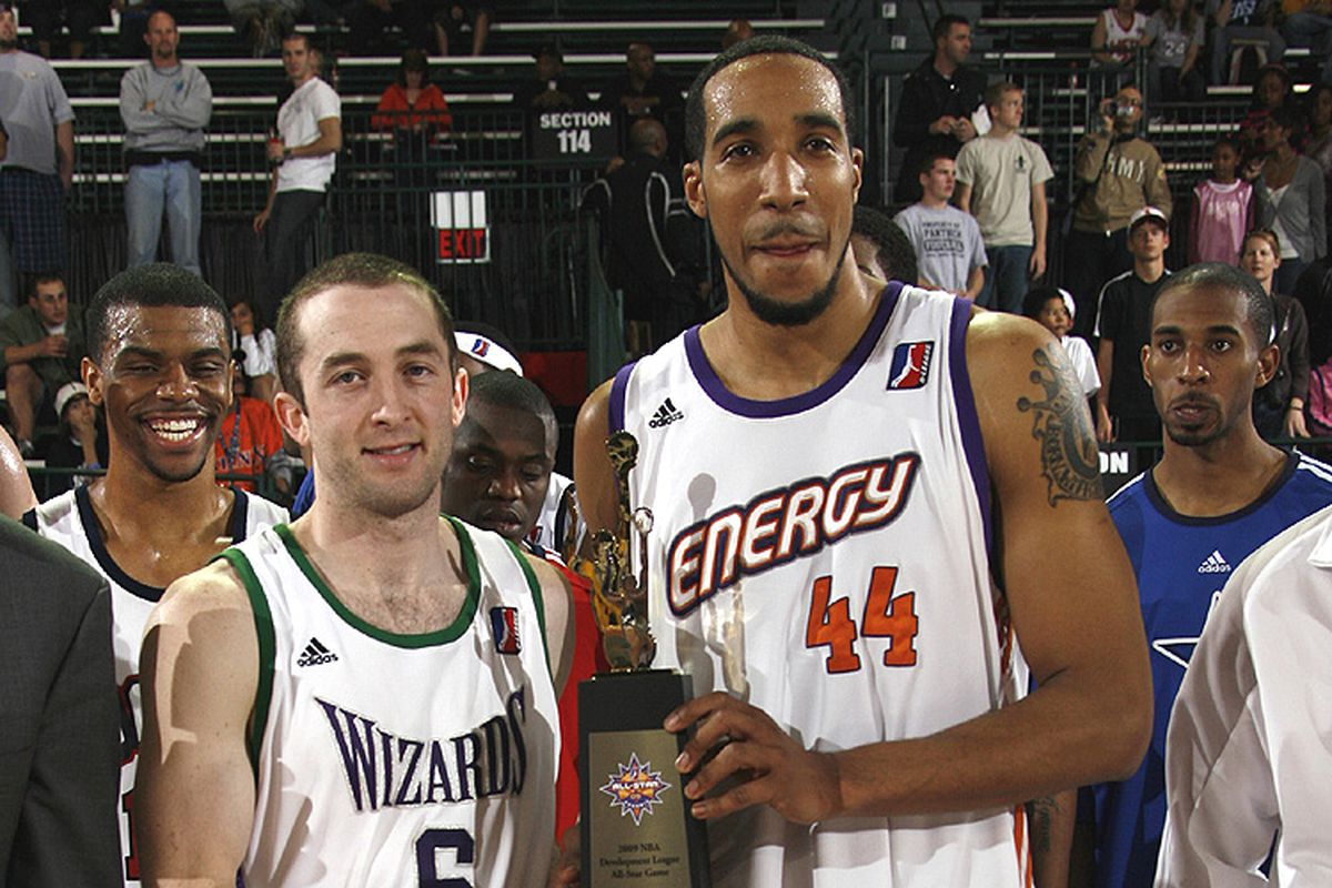 Two First Team Selections, <strong>Blake Ahearn</strong> (L) and <strong>Courtney Sims</strong> pose with the All-Star Game MVP.