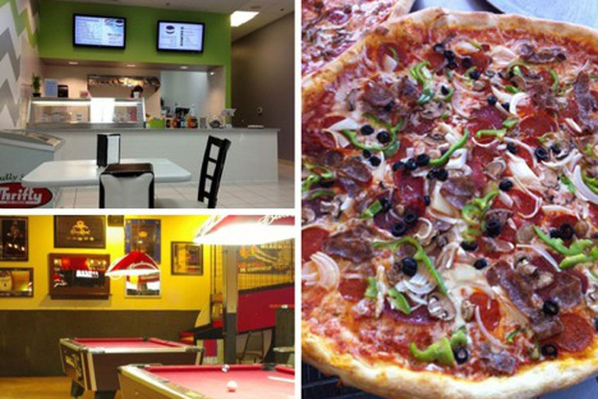 Clockwise from top left: Sweet Addiction, Sabatino's and Buldogi's Eatery