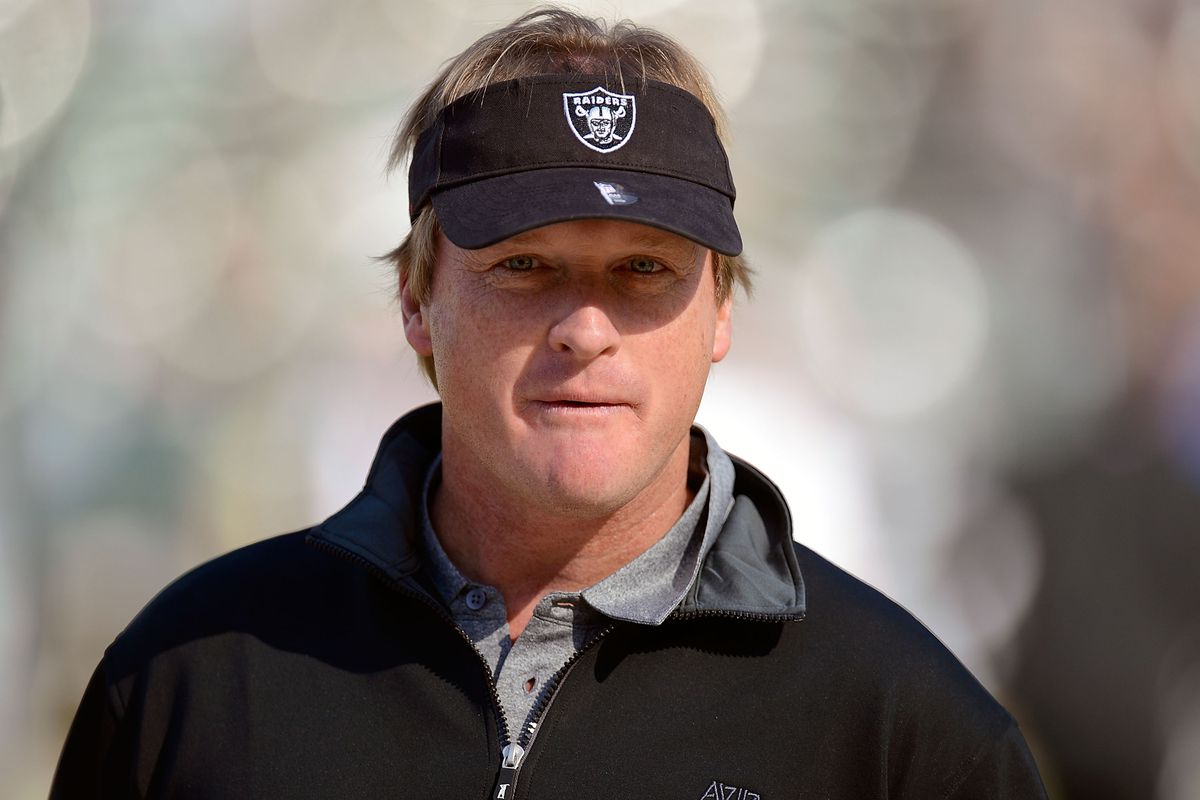 Jon Gruden leaves broadcast booth to again coach Raiders