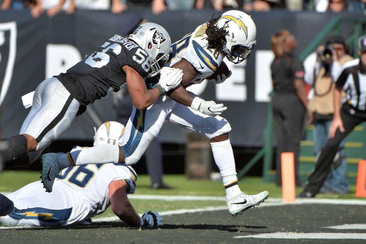 be4629a5 Takeaways From the Los Angeles Chargers-Oakland Raiders Game - Bolts ...