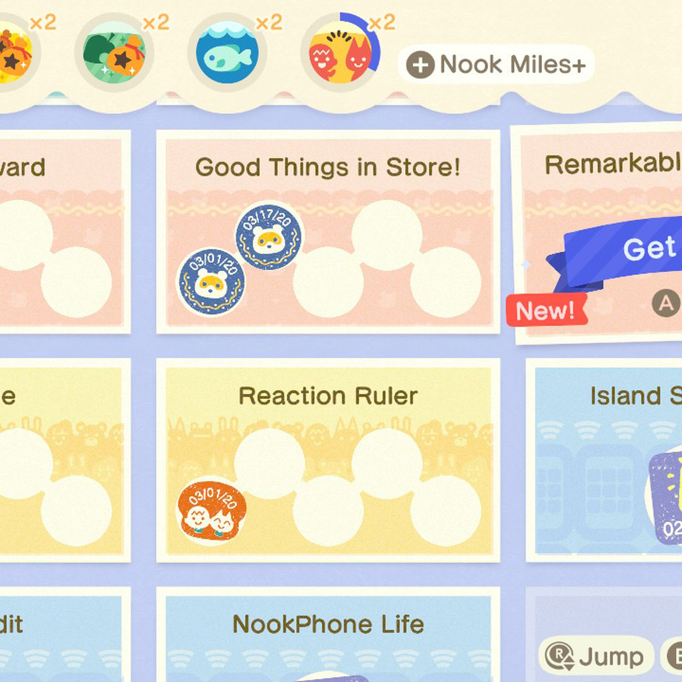 Animal Crossing New Horizons Switch Nook Mileage Rewards List
