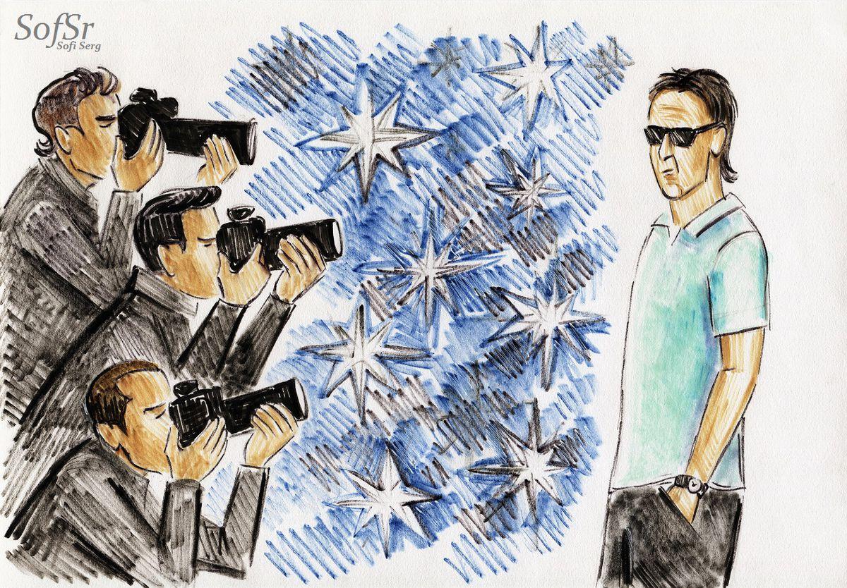 Julen Lopetegui. Drawing by Sofi Serg.
