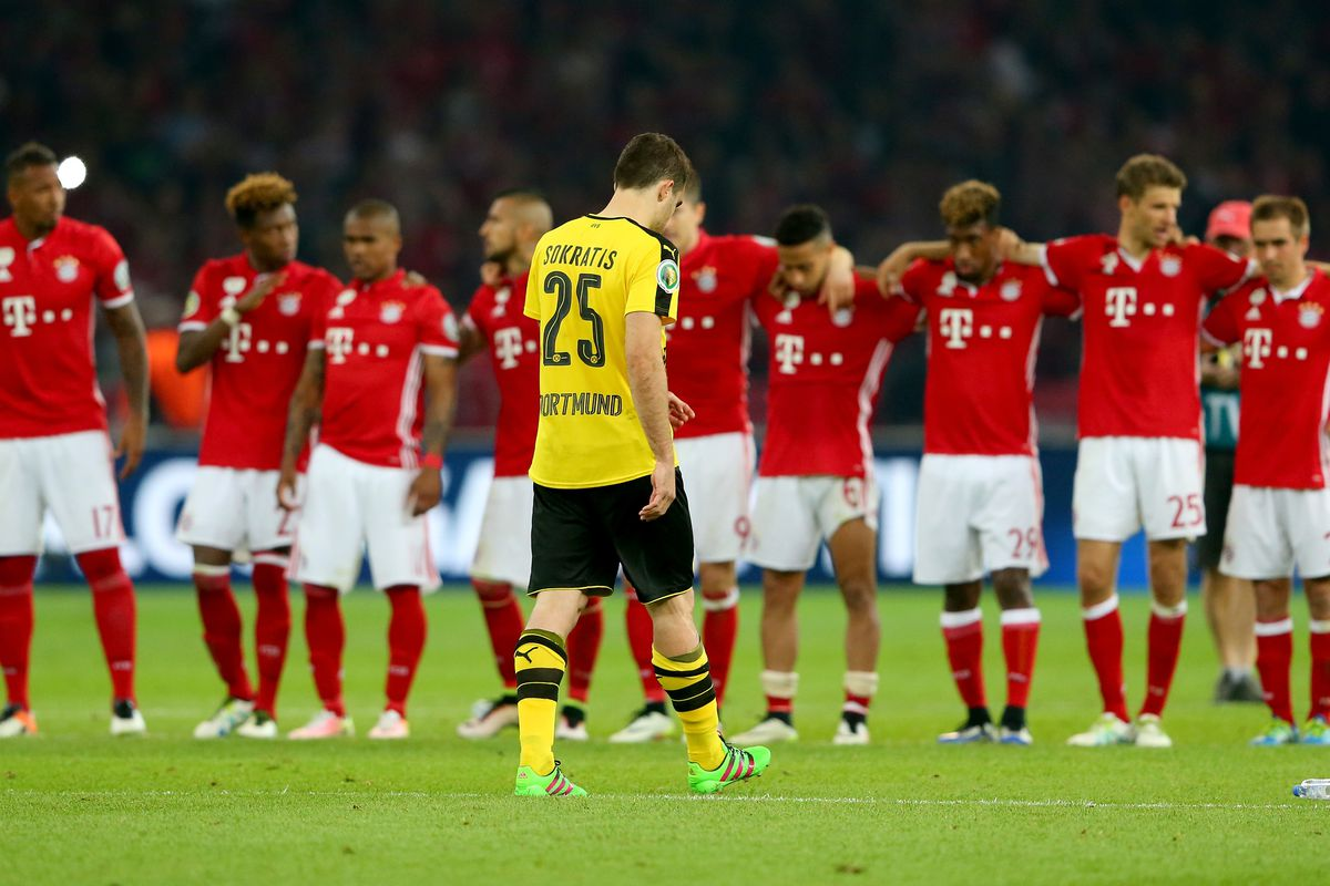 Sokratis walks off after missing a penalty, but it does not take away from his great performance