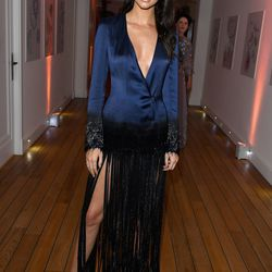 Kendall Jenner in Mathieu Mirano at the Vanity Fair and Chopard after party.