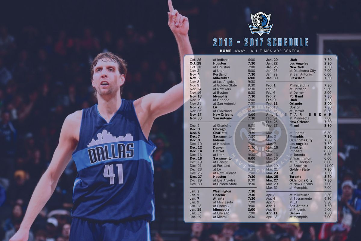The Dallas Mavericks Opening Night Is Oct 26 When They Travel To Indiana Take On Paul George And Pacers Until Then Heres Schedule In