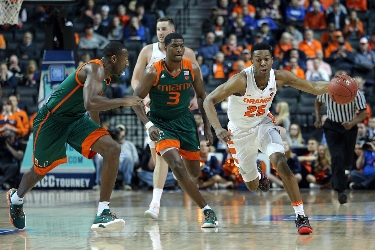 NCAA Basketball: ACC Conference Tournament-Syracuse vs Miami