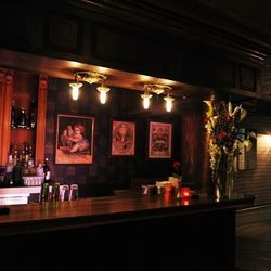 The bar at The Act.