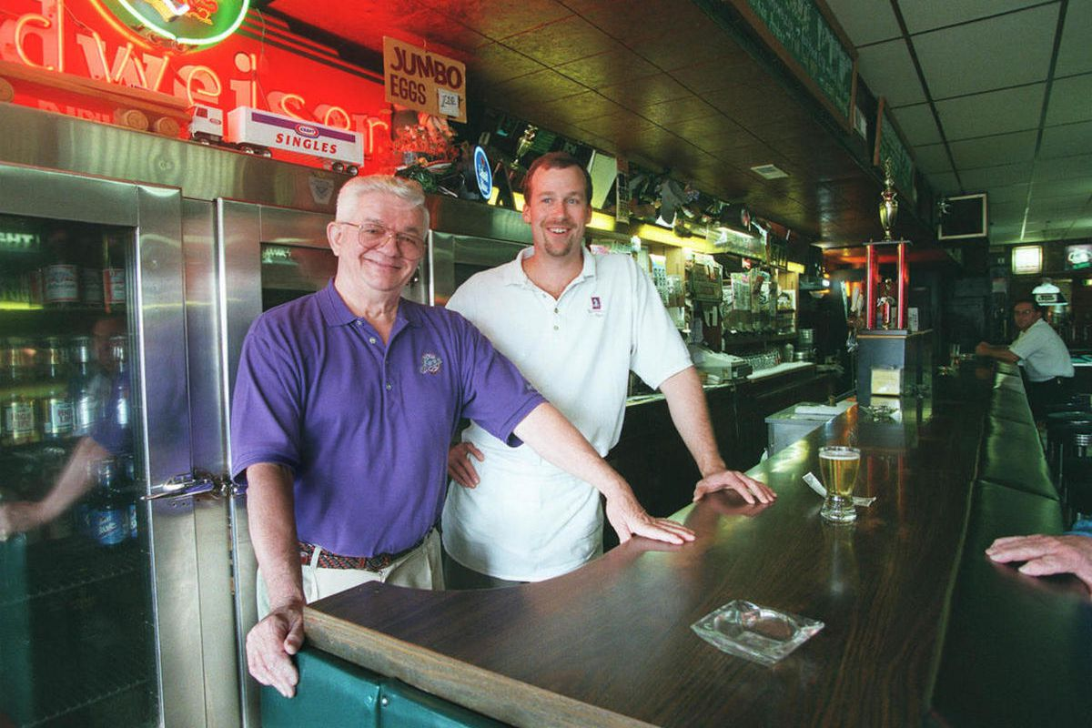 Jack Stockton (left) ran the tavern Jack and Dan's for 45 years.
