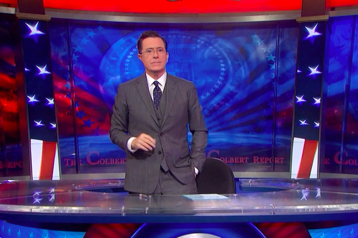 Stephen Colbert introduces the final episode of The Colbert Report.