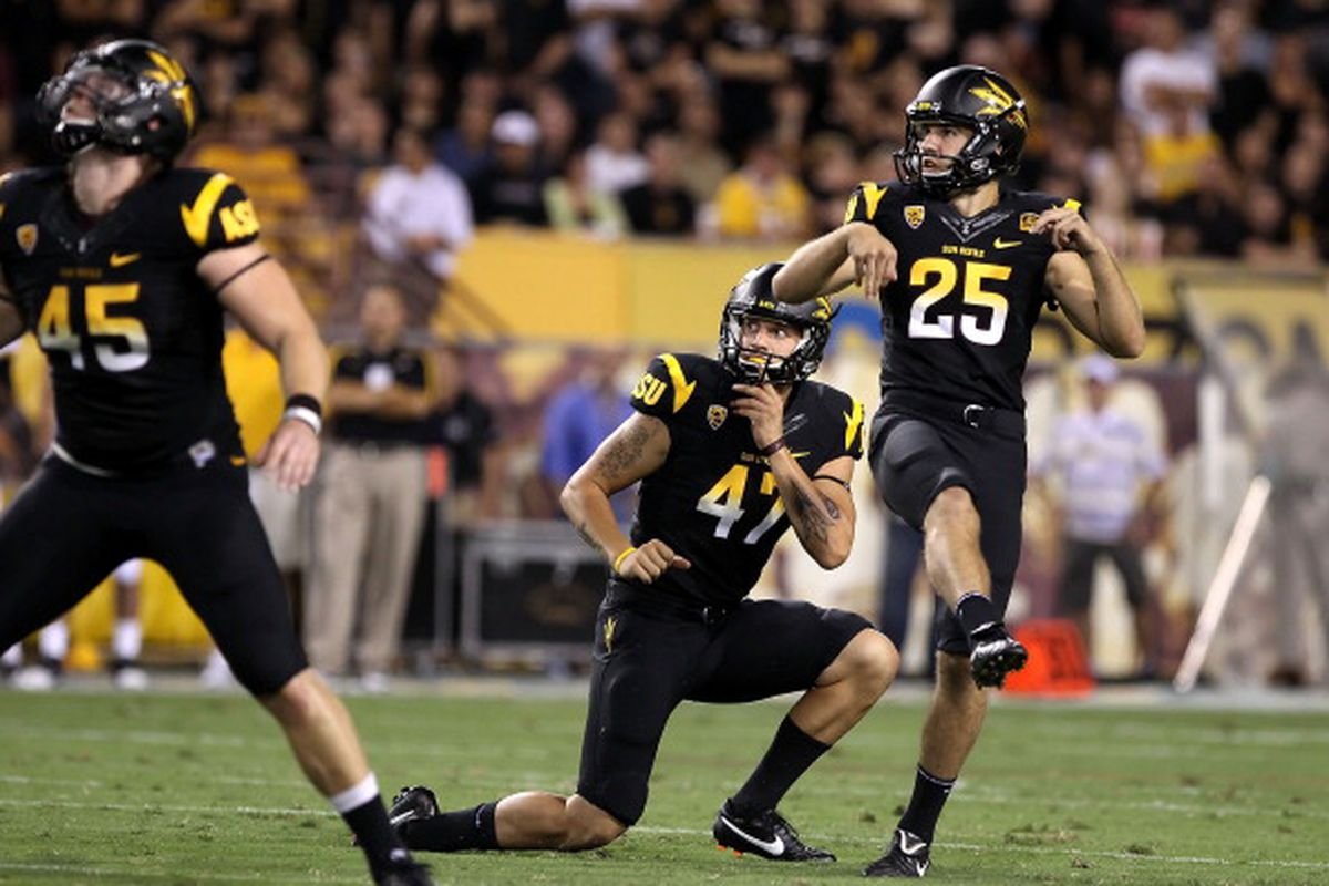 Todd Graham thinks Alex Garoutte (25) can lead the nation in scoring (Photo: Getty Images)