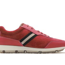 For those seeking the perfect pair of summertime sneakers, Bally's Opunzia Summer Fuxia shoes ($225) are made with authentic calf leather and use various tones of pink to create a casual yet chic look.
