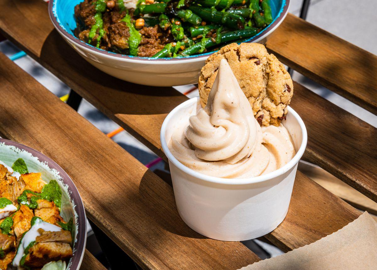 Masala chai soft serve is a new item at RASA's Mt. Vernon Triangle location