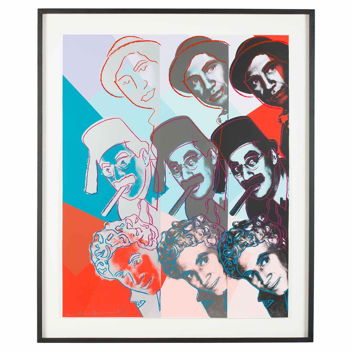 """""""The Marx Brothers,"""" by Andy Warhol, is among a new exhibit at the Spertus Institute."""