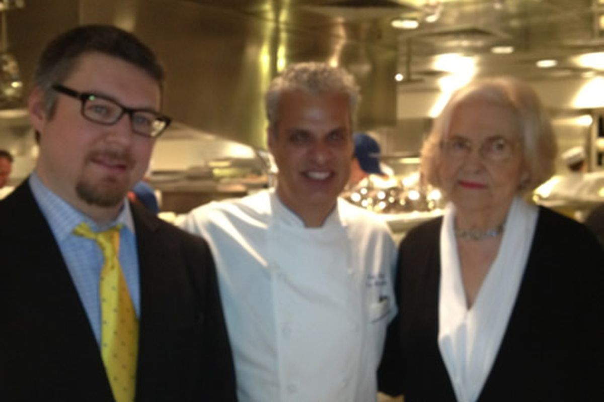 Her handler, Eric Ripert, and Marilyn Hagerty