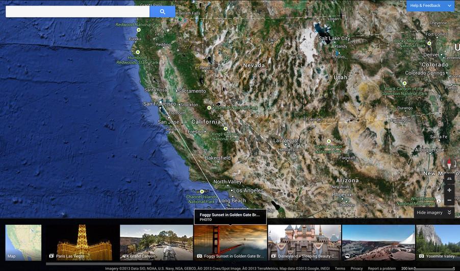 Google Maps Desktop Redesign Screenshots