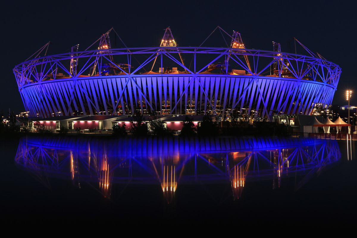 LONDON, ENGLAND - JULY 23:  The Olympic Stadium is pictured in Olympic Park during previews ahead of the London Olympic Games on July 23, 2012 in London, England.  (Photo by Phil Walter/Getty Images)