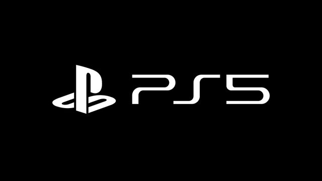 The PlayStation 5 logo on a black background