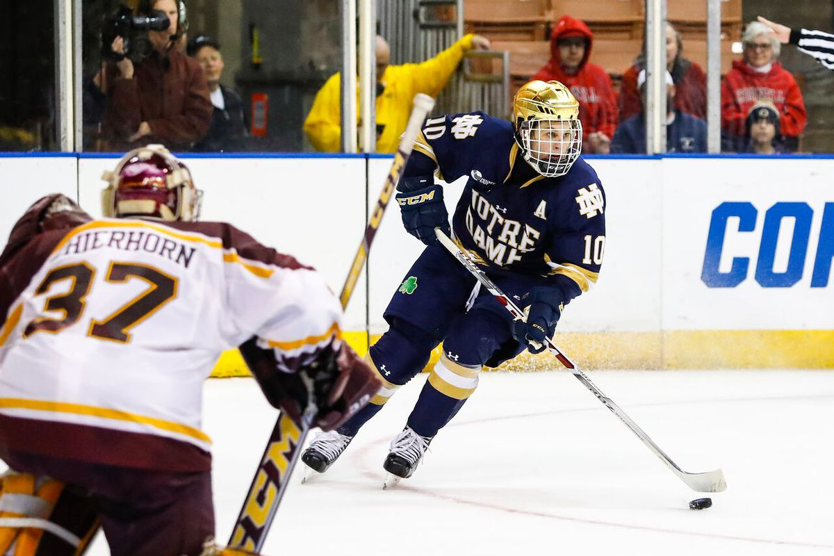 Bruins sign Notre Dame's Bjork to 3-year entry-level deal