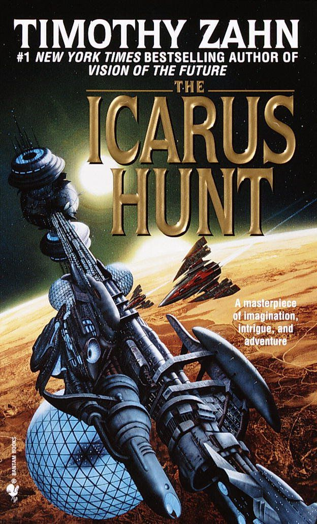 The Icarus Hunt by Timothy Zahn book cover