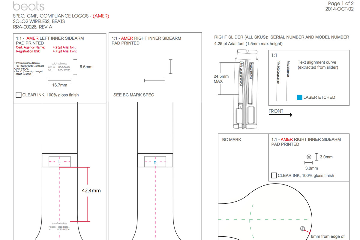 Beats Solo2 Wireless Headphones Leaked By The Fcc Verge Diagram Has Earned Some Strong Praise For Its So It Shouldnt Come As Any Surprise That A Set Is In Works