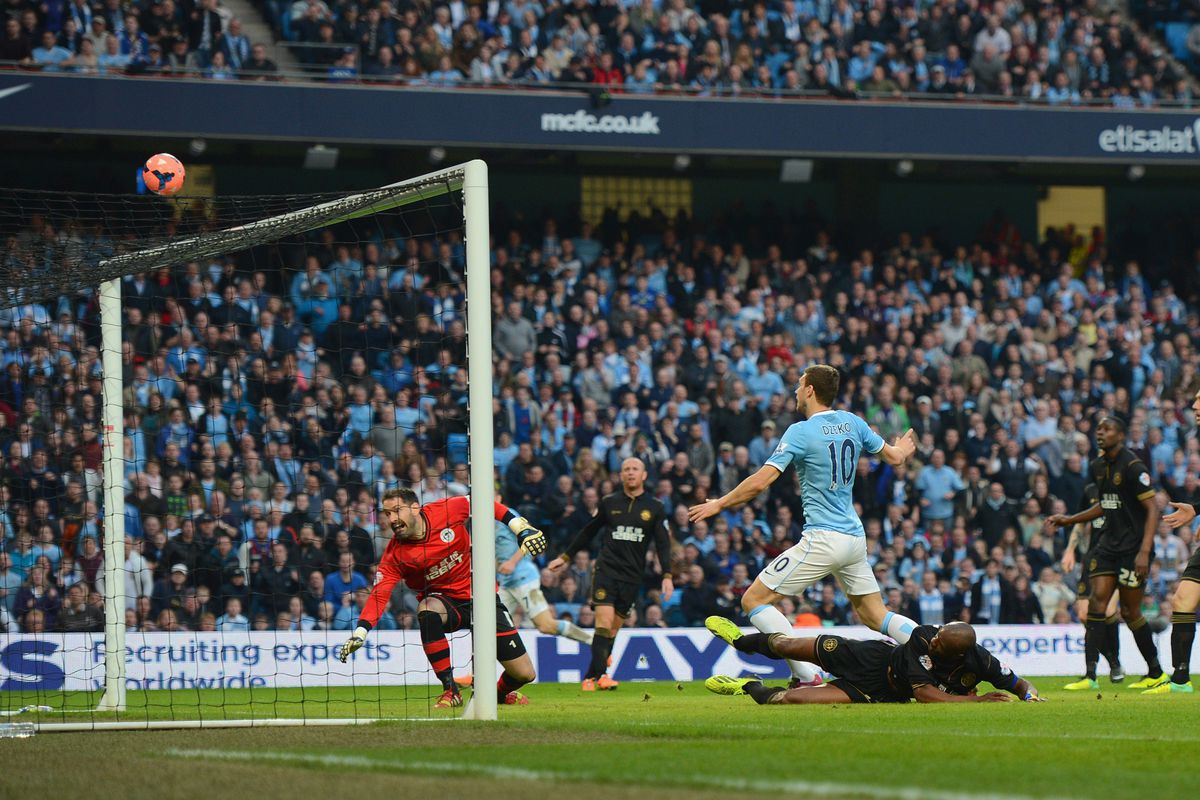 The tackle of the decade from Emmerson Boyce prevents Edin Dzeko from equalising
