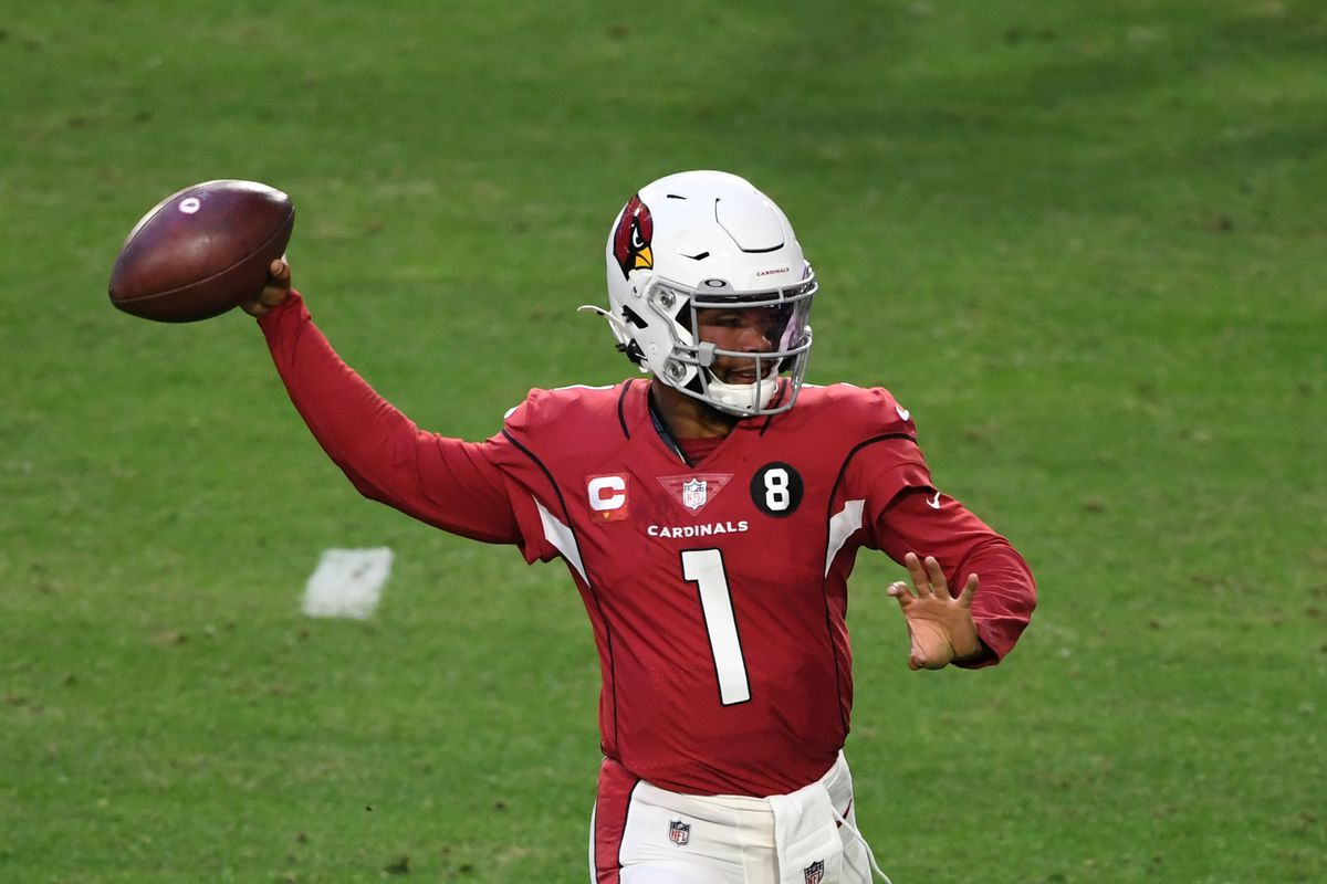 Kyler Murray #1 of the Arizona Cardinals throws the ball against the San Francisco 49ers at State Farm Stadium on December 26, 2020 in Glendale, Arizona.