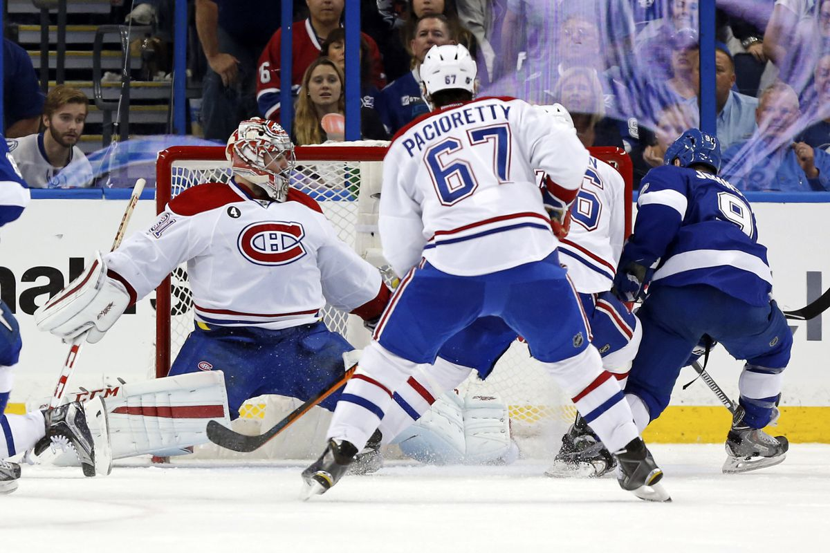 """Carey Price's """"oh shit!!!"""" save selection did not work out for him here."""
