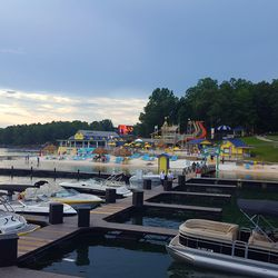 We're back at LandShark Landing's pier and about to hit the high seas (Lake Lanier).