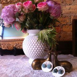 Resin Flower Earrings by Marsha Spaniel, $16