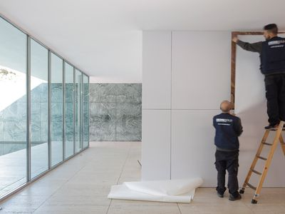 Mies van der Rohe's iconic Barcelona Pavilion gets all-white makeover