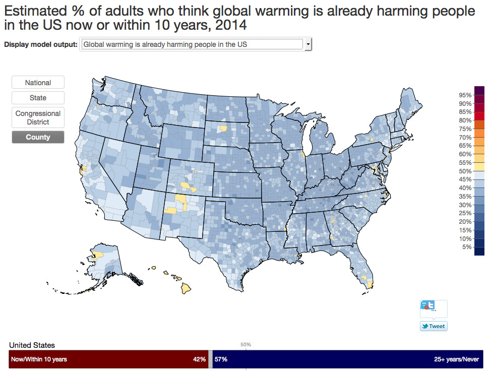 8 maps that reveal Americans\' incoherent opinions on climate change ...