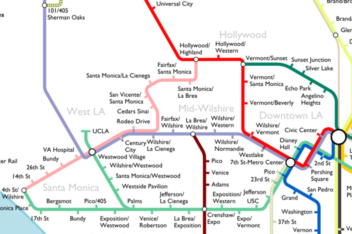 Metro La Map The Most Optimistic Possible LA Metro Rail Map of 2040   Curbed LA