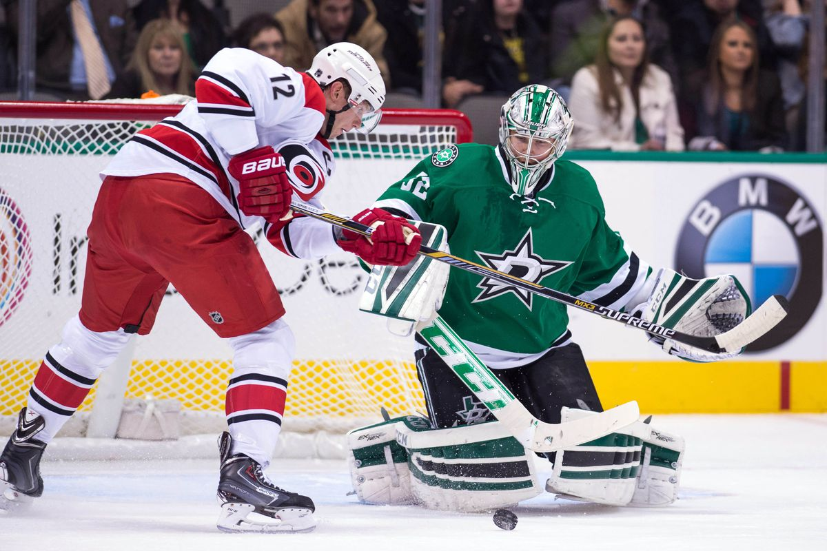 Eric Staal had a three point night against the Stars