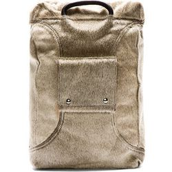 """That last one not hairy enough for you? Enter <b>Maison Martin Margiela's</b>calf-hair backpack, <a href=""""https://www.ssense.com/men/product/maison_martin_margiela/beige-calf-hair-replica-backpack/111220"""">$2,345</a>, which kind of looks like an adorable-y"""