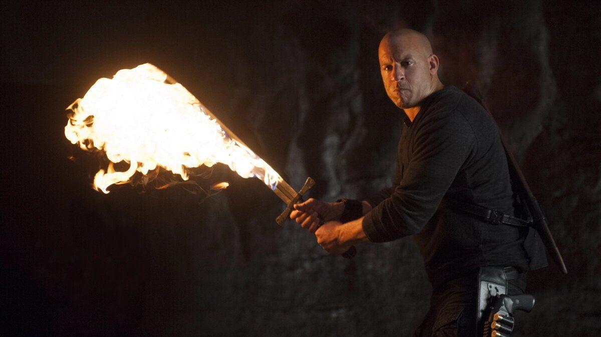 Vin Diesel as Kaulder in a scene fromThe Last Witch Hunter.