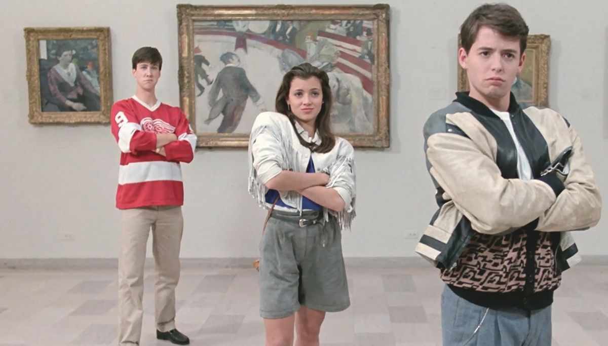 ferris, sloane, and cameron at the chicago art institute