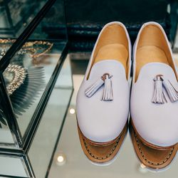 "Dieppa Restrepo lilac 'Gaston' tassel loafer, <a href=""http://www.shopcondor.com/dieppa-restrepo-lilac-gaston-tassel-loafer.html"">$298</a>"