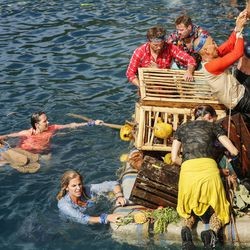"""Sarah Lacina, Sierra Dawn Thomas, in blue, James """"J.T"""" Thomas, Zeke Smith, Debbie Wanner, Tai Trang and Andrea Boehlke on """"Survivor: Game Changers."""" The 34th season premieres, Wednesday, March 8, on CBS. The season premiere marks the 500th episode of the series."""